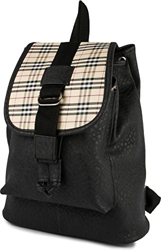 Typify Women's Backpack Handbag(Black,Tbag115)