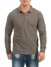 Mivaro Herren Langarmshirt Poloshirt Langarm Hemd Longsleeve Polo Shirt bf23847e84