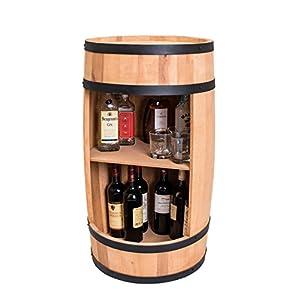 weeco Fass Weinregal 81cm, Design Hausbar - Weinschrank aus Holz, Weinständer