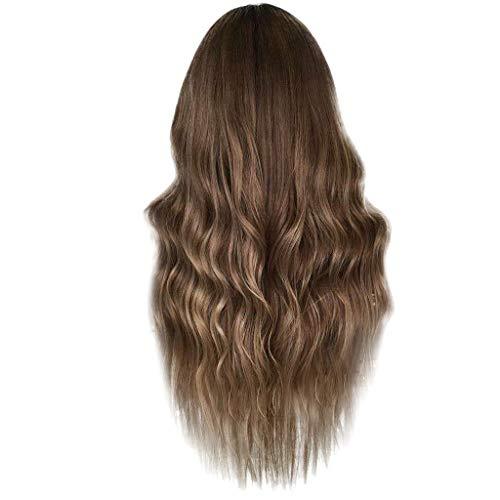 Waselia - Lace inneres Netz, Brown Lace Frontseiten Perücken für Damen Lange Top Synthetische Haar Perücke uk Natürliche suchen Wurzeln Blonde Spitze Perücken für Frauen Wavy ()