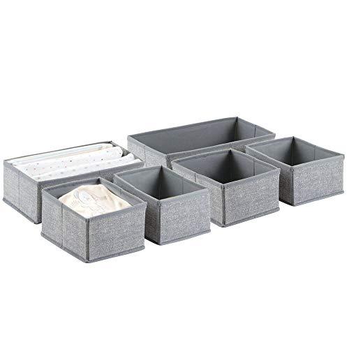 sch-/Schrank-Organizer für Kleidung, Mützen, Windeln - 6-er Set, Grau ()