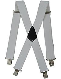Extra Lange, Extra Breite XXL Hosenträger X-Form mit 4 Starken Clips, Stark Stoff - 5cm
