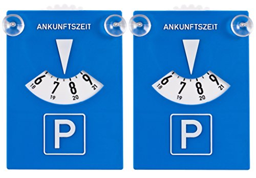 Saugnapf Windschutzscheibe (DIYexpert 2er Pack Parkscheibe Kunststoff mit Saugnäpfen)