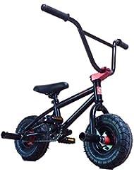"Limited Edition 1080 10"" Wheel Stunt Freestyle Mini BMX Bike Matte Black & Red"
