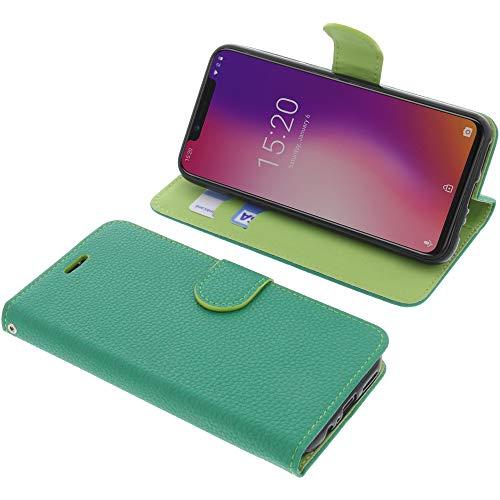 foto-kontor Tasche für UMIDIGI One/One PRO Book Style grün Schutz Hülle Buch