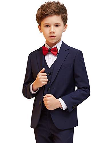 oking 5 Stück Slim Fit Formale Kleidung Kinderkostüm für Hochzeit Kommunion zurück zu Schule Taufkleid, Blau, 4 inch-3 / 4 Jahre ()