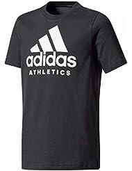 adidas Yb Sid Tee Camiseta, Niños, Negro-(Blanco), 110