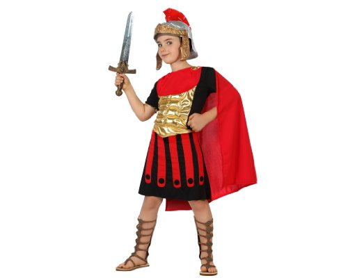 ATOSA 22252 - Römer Junge Kostüm, Größe 128, rot/schwarz