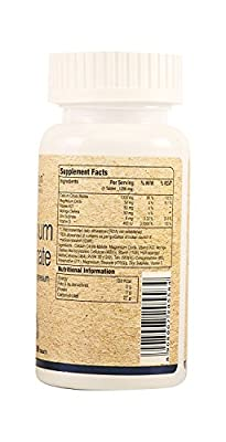 Pure Nutrition Ultra Calcium Citrate 1250mg with Vitamin D, Zinc and Magnesium - 1 Tablet Daily - 3 Months Supply (90 Veg Tabs)