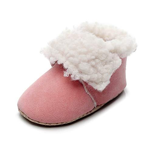 LEXUPE Jungen Mädchen Winter Schneestiefel Warme weiche Winterschuhe Boots für Kinder Baby(Rosa,12)