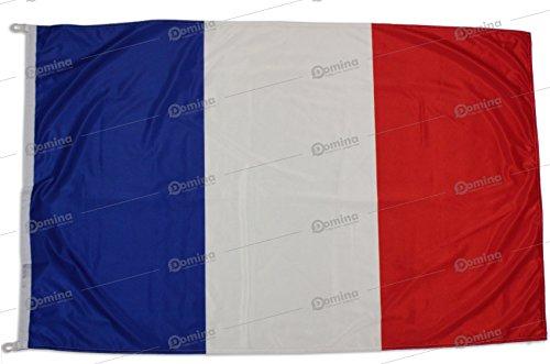 Drapeau France 150x100cm en Tissu Nautique Coupe-Vent 115g/m²,Drapeau français 150x100 Lavable,Drapeau de la France 150x100cm avec Cordon o mousquetons,Double Couture périmétrique et Bande de Renfort