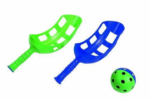 HUDORA 76370 - Fangballspiel mit 2 Fanggriffe und 1 Ball