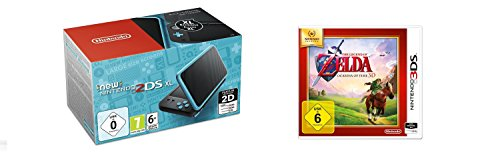 New Nintendo 2DS XL Schwarz/Türkis + The Legend of Zelda: Ocarina of Time 3D