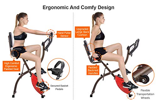 iDeer Life Magnetic Upright Recumbent Exercise Bike
