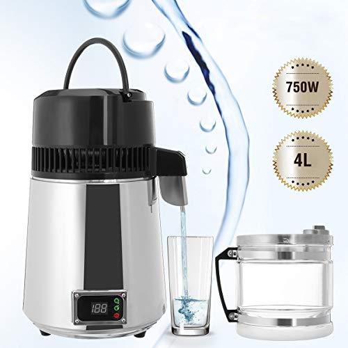 4L 750 Watt Haushaltsreinwasserdestillierapparat Elektrische Edelstahl Wasserfilter Container Filter Destilliertes Wasser Maschine Glas - Wasser-filter-maschine