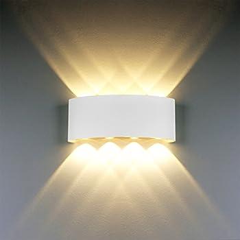 Modern wall light 8w white led sconce up down wall lamp aluminium modern wall light 8w white led sconce up down wall lamp aluminium led waterproof spot light aloadofball Gallery