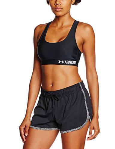 Heatgear Sport-bh (Under Armour Damen Bustier und Top Fitness-Bustiers & Tops, Black, MD)