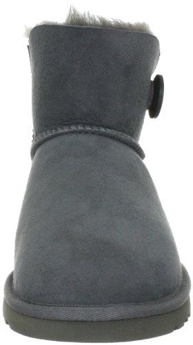 UGG Mini Bailey Button, Stivali Corti Donna Grey