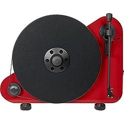Pro-Ject Vte Tocadiscos a Posicionamiento Vertical, derecha, Rojo