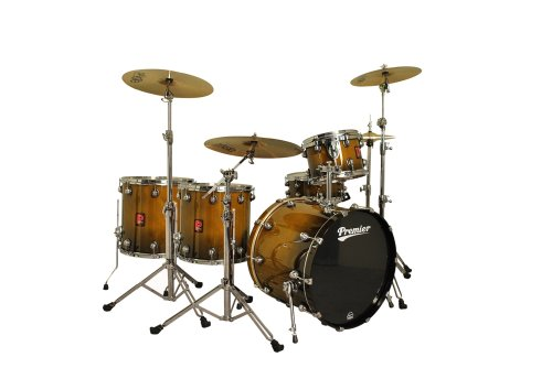 Premier Drums Genista Serie 4289945dwf 5-teilig Ahorn Heavy Rock 22SHELL PACK, Drum Set (Nussbaum dunkel verblasst Lack)
