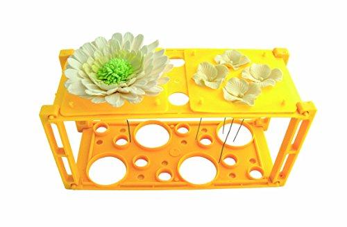JEM 109SE035 Blumenständer mit Schablonen, Kunststoff, Gelb, 23 x 10 x 11 cm