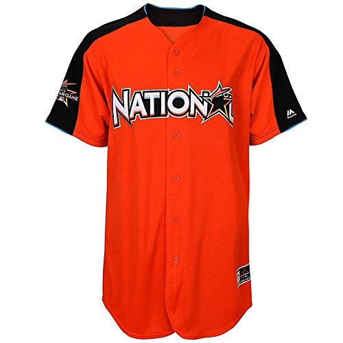 Official Majestic MLB National League Home Run Derby Mens Jersey (Illinois Home Jersey)