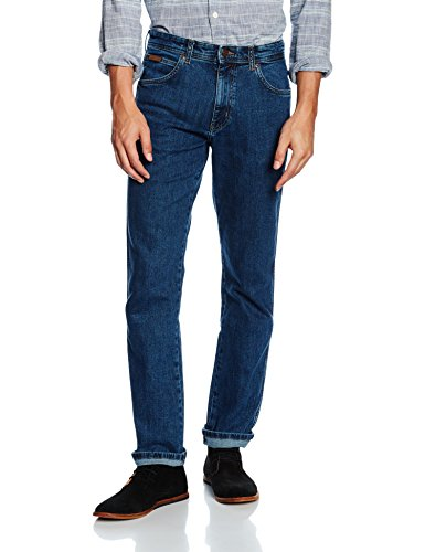 Wrangler Herren Arizona Stretch W12OXG77O Jeans, Blau (Rolling Rock), 34/36(UK) (Denim-stretch-rock)