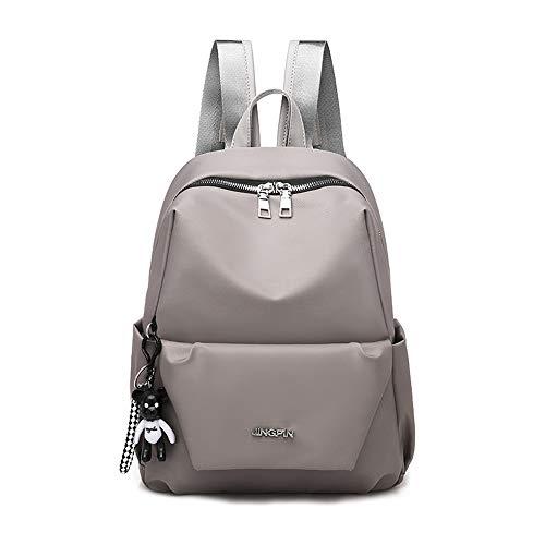 Einfache und praktische beiläufige Oxford-Tuch-Schulterbeutelfrau Nylonrucksack-Kursteilnehmerbeutel der großen Kapazität kakifarbig - Dauerhafte Luggage Bag Tag