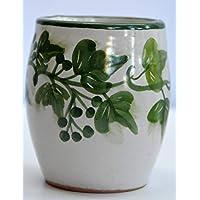 Bicchiere Portaspazzolini Linea Edere Ceramica Handmade Le Ceramiche del Castello Made in Italy