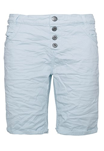 Urban Surface Damen Bermuda Shorts | Bequeme Kurze Stoffhose aus Stretch-Twill - Loose Fit Blue XS