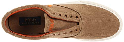 Polo Ralph Lauren Vito Canvas Fashion Sneaker Laceless Conception Adirondack Khaki