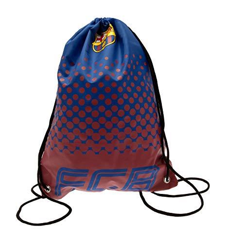 FC Barcelona Football Club Fade Design Crest Badge Drawstring Gym Bag Official -