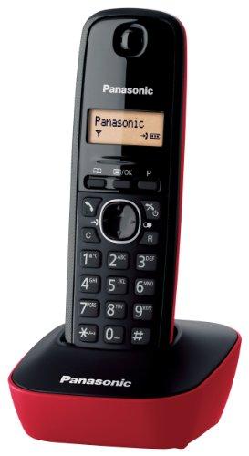 panasonic-kx-tg1611-telefono-cordless-domestico-con-base-montabile-a-parete-rosso-nero