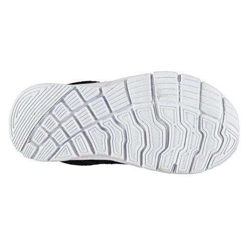 Fabric Enfants Reup Runner Chaussures Baskets Sport Casual Noir/Blanc