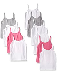 Hanes Girls' 10-Pack Cami Bundle,  Assorted