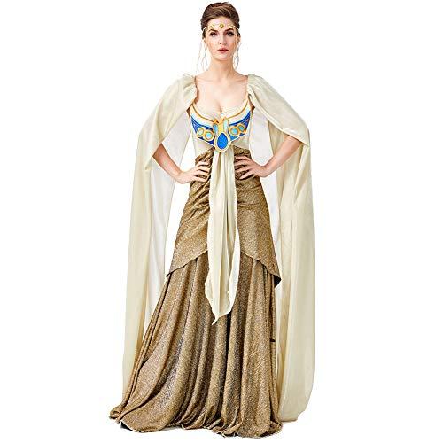 Krieger Königin Der Kostüm - CJJC Adult Ancient Egyptian Lady Wunderschönes Kleid, Kreative Pailletten Sexy Kostüm Mit Kopfbedeckung Ideal Für Festival Party Performance Verwenden M