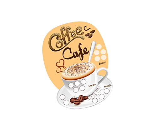 Party Stuff Coffee Theme Tambola Housie Tickets - Coffee Cafe kukuba 1 - Designer Kukuba (24 Cards) | Kitty Games