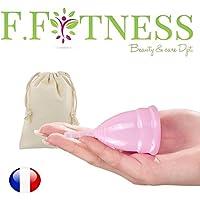 Fit Cup Menstruationstasse aus medizinischem Silikon, hypoallergen Größe 1oder 2zur Auswahl + Tasche 100% Baumwolle preisvergleich bei billige-tabletten.eu