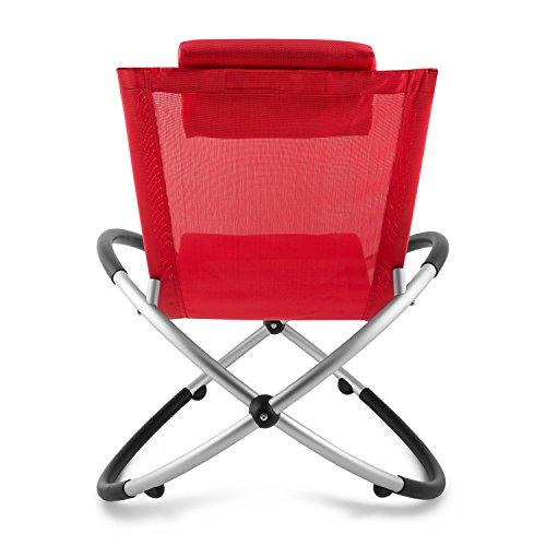 blumfeldt Chilly Billy ergonomische Relaxliege Liegestuhl Gartenstuhl Klappstuhl (Liege, 180 kg maximale Belastung, atmungsaktiv, witterungsbeständig, pflegeleicht, faltbar) rot - 4