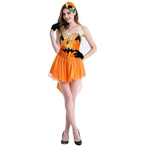 Rainbow Fox Halloween kostüme Halloween Kürbis kostüme Orange Hexe Kleid schick cosplay Kleider zum Frau (M) (Orange Fox Kostüm)