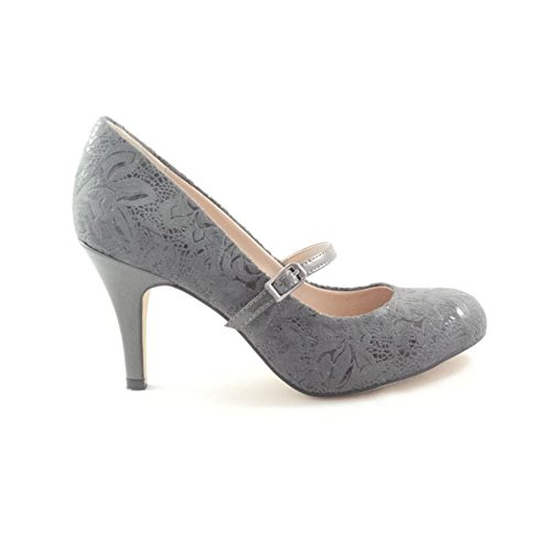 Mary Fuzina Lotus Donna Floral Jane Print Grey pTOwq5