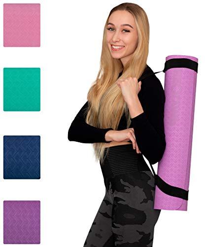 NEOLYMP Premium Yogamatte aus hochwertigen TPE ist rutschfest und aus umweltfreundliches Material, außerdem extrem langlebig. (Flieder)