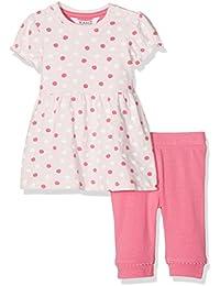 Kanz Baby-Mädchen Bekleidungsset Kleid 1/4 Arm + Leggings