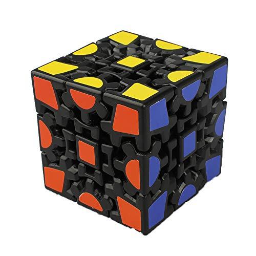 Hmjunboys Puzzle Cube Zauberwürfel 3D Rubik's Cube Schwarz Zahnrad Unregelmäßig Form Geschwindigkeit Magic Cube Spiel für Kinder - Zahnrad-puzzle