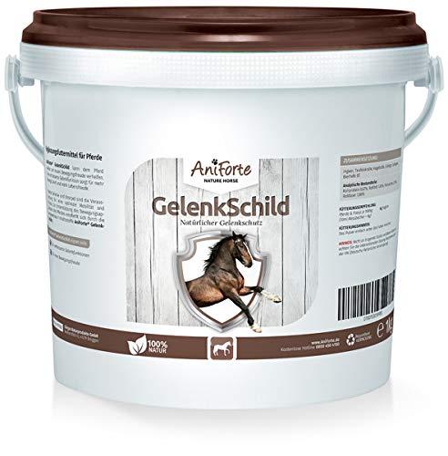AniForte Gelenk-Schild Natürlicher Gelenk-Schutz 1 kg für Pferde, Neue Mobilität und Fitness für den Bewegungs-Apparat, Mit Hagebutte, Collagen und Ginkgo -