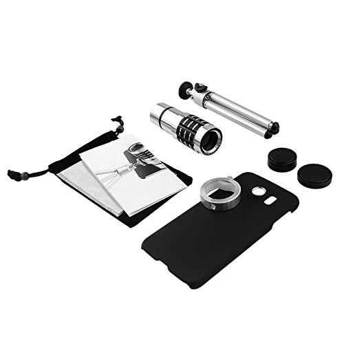 Apexel Samsung Galaxy S6 Edge Plus 12x Manual Focus Telephoto Camera Lens Kit with Mini Tripod/ Hard Back Case for Samsung Galaxy S6 Edge Plus