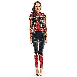 Vengadores Cosplay Ropa Trajes de Spiderman Mono Mujeres Adultas Damas Vestido de Lujo Medias siamesas Juegos de rol Trajes,A-M