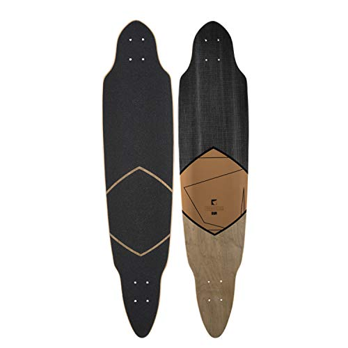Ram Longboard Deck Holz Drop Through Brett Board Ersatzdeck inkl. Griptape (Sarchez) (Deck Longboard Pintail)