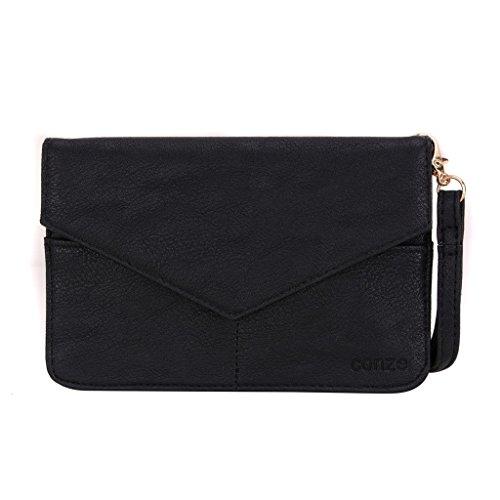 Conze da donna portafoglio tutto borsa con spallacci per Smart Phone per ALCATEL Onetouch Fierce XL/Idol 3C/Flash Plus Grigio grigio nero