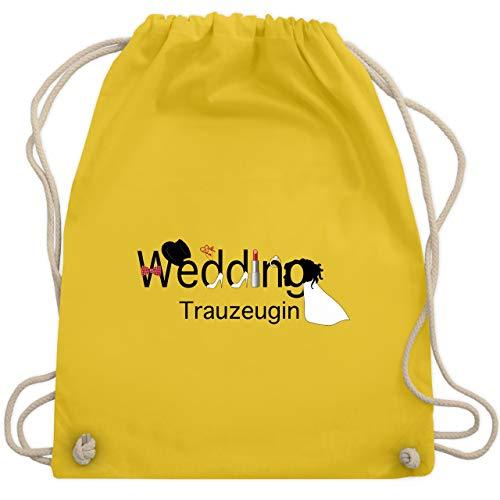 JGA Junggesellinnenabschied - Wedding Trauzeugin - Unisize - Gelb - WM110 - Turnbeutel & Gym Bag